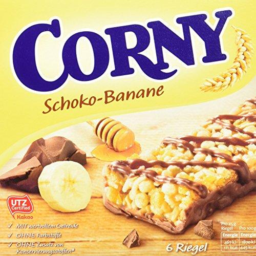Corny Classic Schoko-Banane, Müsliriegel, 10er Pack (10 x 150g Schachtel) -