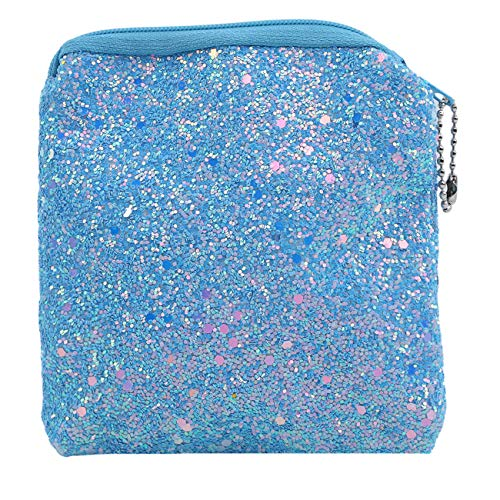 Leder Girls Wallet (ZALING Fashion Mermaid Pailletten Geldbörse Mini Wallet Girl Glitzernde Geldbörse Damen Handtasche Himmelblau)