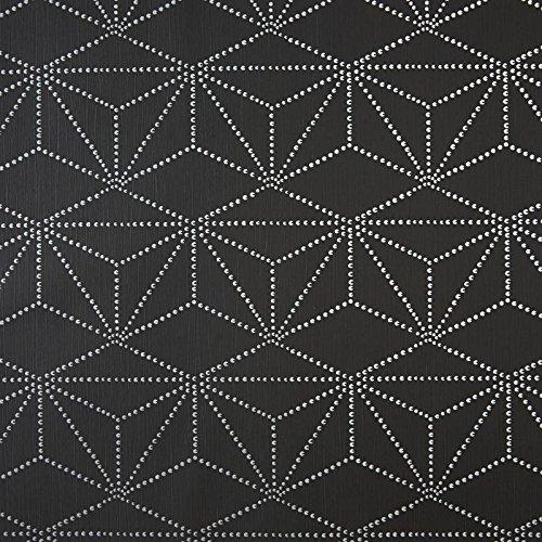 caselio-65109090-carta-da-parati-di-disegni-geometrici-colore-viola-e-fondo-colore-grigio