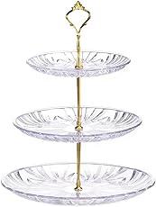 3-Stöckig Etagere Obstteller Gebäckschale Dessert Display, Cupcake Ständer, Törtchen Gebäck Muffin Obst Halter für Party, Geburtstag, Hochzeit, Weihnachten etagere 2stöckig