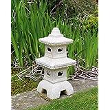 HOME HUT Maison Refuge de pagode Jardin Chinois, Japonais Ornement Sculpture Lanterne Décoration en Céramique Grande