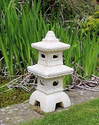 Home HUTA Pagoda Jardín Chino, Adorno Japonés Escultura Linterna Decoración Cerámica Grande