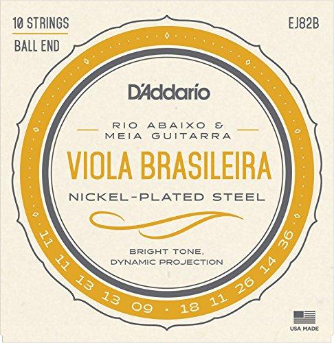 D'Addario EJ82B Viola Brasileira Set (Rio Abaixo und Meia Gitarrera)