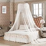 Mosquitera, innislink Mosquitera de cama Anti-insectos Mosquitero de Dosel de la Cama Portátil Mosquito repelente de insectos Mosquitero Cobertura Completa para camas individuales y dobles – Blanco