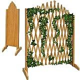 Deuba Gartenzaun Rankhilfe Rankgitter Holzzaun Pflanzengitter | zusammenfaltbar | variabel verstellbar | 200 cm
