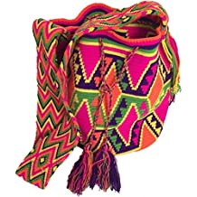 Mochila Wayuu - Bolso cruzados de algodón para mujer