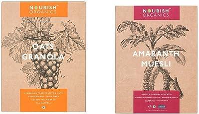 Nourish Organics Oats Granola and Amaranth Muesli, 300g (Combo of 2)