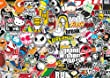 Sticker Bombing Sheet - 297mm x 210 mm (A4) - Design 001 - Sticker Bomb
