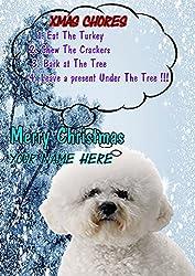 Bichon Frise Hund Rules ptcc272Xmas Weihnachten Karte A5personalisierbar Karten geschrieben von uns Geschenke für alle 2016von Derbyshire UK...
