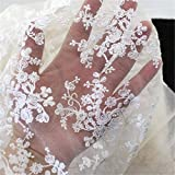 KING DO WAY Embroidery Cotton Lace Trim Wedding Fabric Cloth Patchwork Handmade DIY Craft White