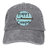 Asekngvo Baseball Cap Happy Camper 2 Men Women Snapback Casquettes Adjustable Baseball Cap Color1