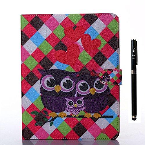 inShang Housse iPad 2 iPad 3 iPad 4 Coque Etui Smart Cover pour Tablette Apple iPad, Coque en PU Cuir, Coque avec Support Fonction+ Qualite Logo Pens Haute Stylet capacitif