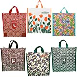 DOUBLE R BAGS Canvas Shopping Bag (Set of 6) (Multicolored_DD07-07)