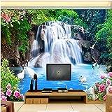 Tapete-Gebirgswasser-Wasserfall-Landschaft 3D Wand-Wand-Dekorations-Wohnzimmer-Foto-Tapete des Wand-3D XXL 350X733CM