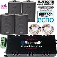 Smart Home Bluetooth Verstärker U0026 4 X Schwarz Wand Montiert Lautsprecher Set  U2013 Kompakte