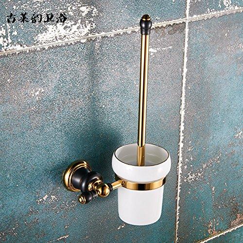 Redhj suspensión de la Torre Baño de Cobre Europeo Conjunto Negro Oro Viejo toallero Estante toallero baño, WC Rack Americano
