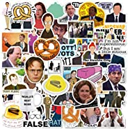 [100 pcs] The Office tv Show Merchandise Stickers, Gift for Coworkers Dunder Mifflin Vinyl Sticker for Bumper