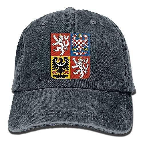 JIEKEIO Funny Baseball Caps Hats Czech Republic Coat of Arms Unisex Adult Adjustable Cowboy Dad Hats