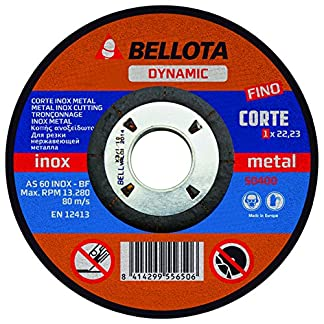 Bellota 50400-115 Disco ABRASIVO Corte INOX-Metal Fino Dynamic 115MM