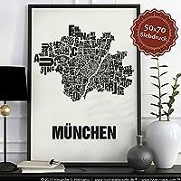 München Buchstabenort Schwarz auf Naturweiß