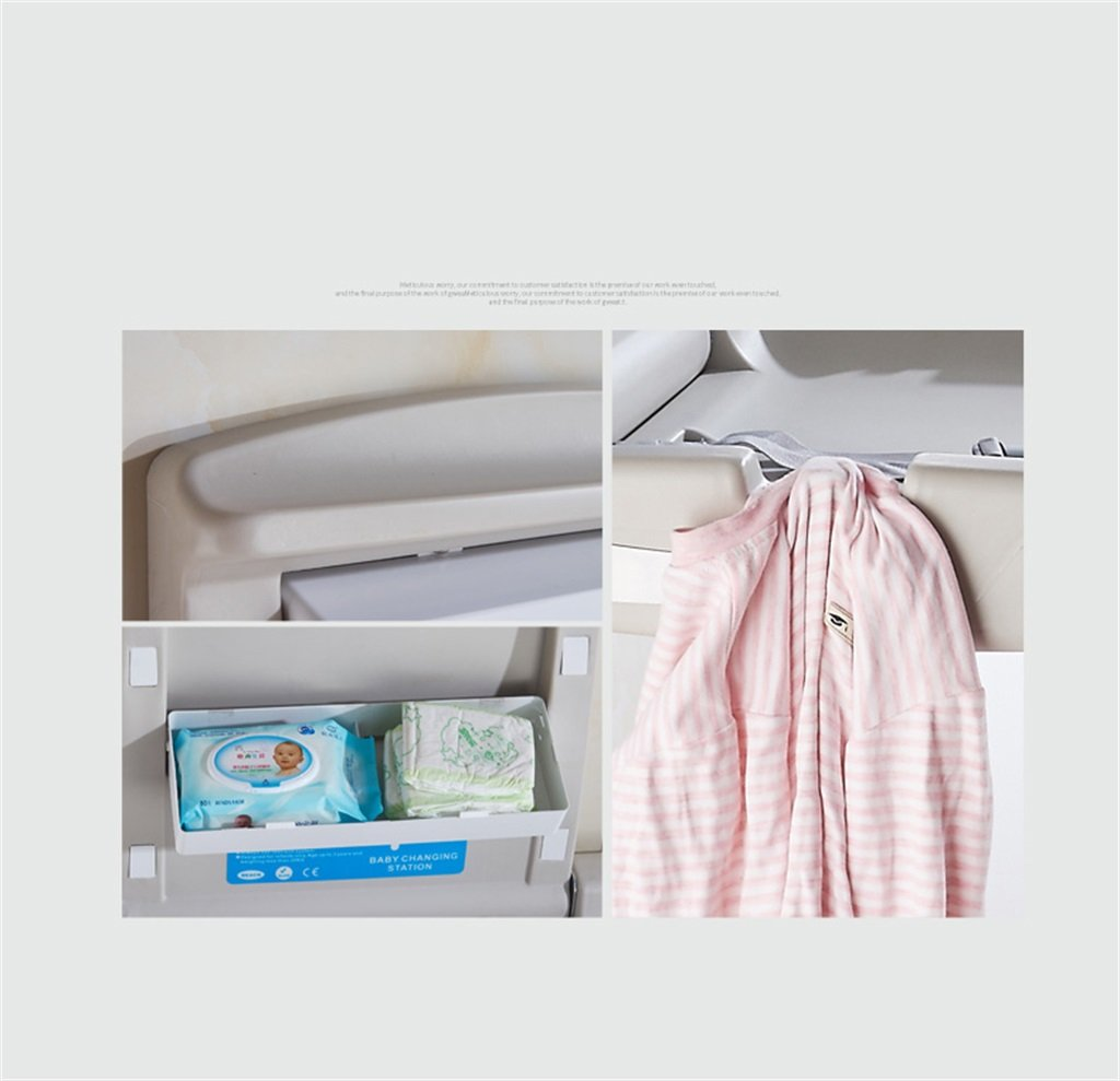 CL-* Wall-mounted Maternal And Child Care Beds Baby Changing Table Bathroom PP Material Nursing Desk Collapsible Hotel Shopping Mall 20kg Load Child Playpen