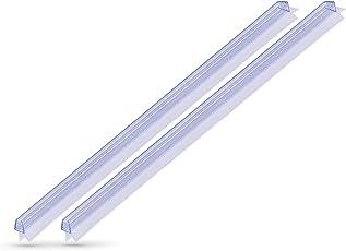 KANWA - 2x 100cm Duschdichtung Transparent für die Duschkabine 6 mm, 7 mm, 8 mm Glasdicke der Duschtür, Duschleiste - Ersatzdichtung - Wasserabweiser mit Dichtkeder Schimmelbeständig