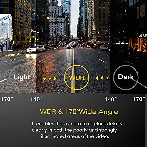 Mibao Dashcam Telecamera per Auto Dash Cam per Auto Camera Car 1080P con 3.0″ LCD, 170 Gradi, G-Sensor, WDR, 6 Glens, Rilevazione di Movimento, Registrazione in Loop,WDR - 5