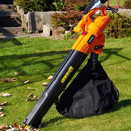 VonHaus 3 in 1 Garden Vacuum, Leaf Blower & Mulcher 2800W – Adjustable speed, 10:1 Shredding Ratio, 40L Collection Bag & 10m Cable