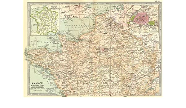 Map Of France With Key.France North Provinces 1789 Paris Shows Key Battlefields Dates