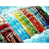 200x Stangeneis Wassereis schlecken Eis Drink Mix Waldmeister,Cola,Kirsch,Zitrone,Orange,Blaubeere a 40ml als DHL Paket