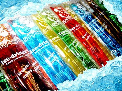 200x Crazy Chill Stangeneis Wassereis Eis Drink Mix z.B. Waldmeister,Cola,Kirsch,Zitrone,Orange,Blaubeere a 40ml