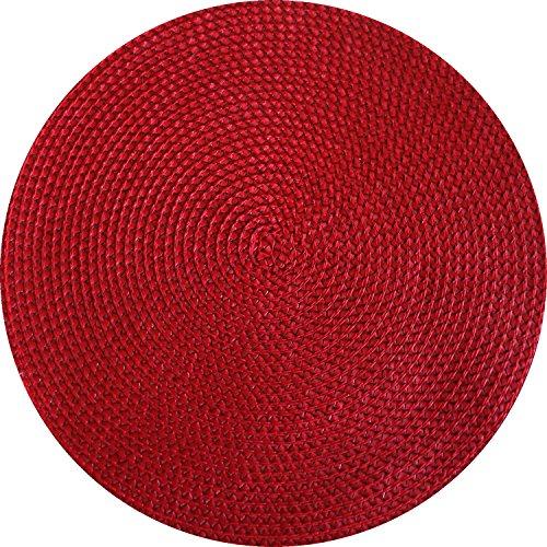 Tischset Rot Rund Ø 38cm Basket geflochten
