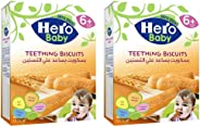 HERO BABY Biscuits, 180 gm (Pack of 2)