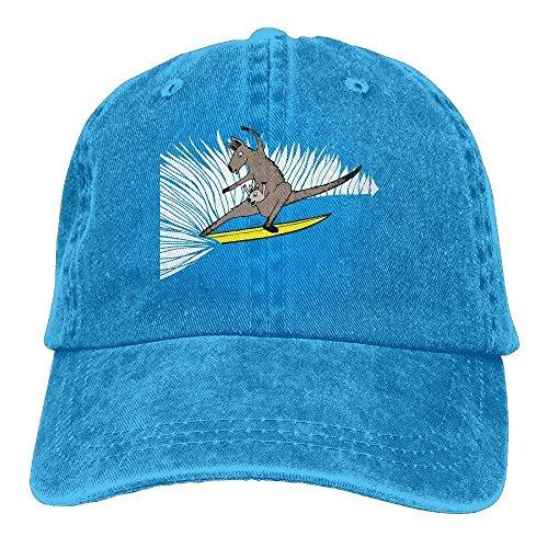 KHETAMNY Classic Baseball Caps Cotton Denim Surfing Kangaroo Plain Personalized Snapbacks Hats Kangaroo Classic Cap