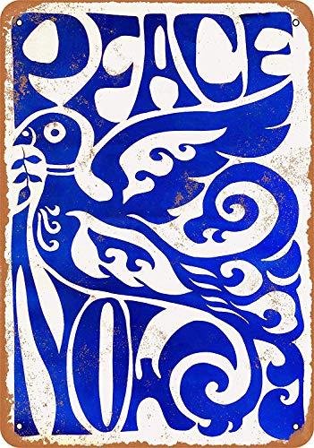 ed Peace Now Blechschild Metall dekorative Wand Poster Souvenir ()