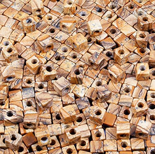 KYEYGWO - Cubo cuadrado piedra natural granel agujero