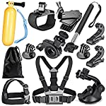 For GoPro Hero 4 Silver Black Hero 4 3+ 3 2 1 in Diving Surfing Rowing Running Cycling Camping Parachuting And More The Kit contains: 1 x Extendable Selfie Stick Handheld Monopod 1 x Head Belt Strap Mount 1 x Chest Strap 1 x Car Suction Cup Mount 1 x...