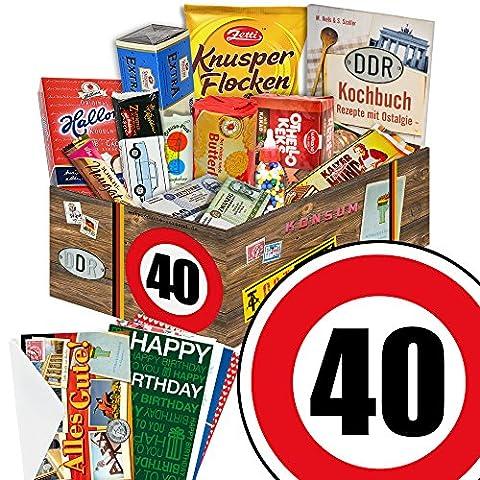 40 Geburtstag Geschenk DDR - Süssigkeiten Box mit DDR Waren + Geschenkverpackung