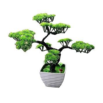 Simulation Kunstliche Blumen Pflanze Blume Baum Grun Topf Wohnzimmer Tisch Dekoration Lucky Feng Shui Deko Green Amazonde Kuche