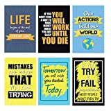 #5: Combo Pack of 6 Motivational Quote Wall Poster Quotes & Motivation,(12X18) by Vprint