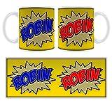 Robin Comic Book Art Personalised Name Mug