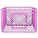 Iris Ohyama, cane parco / outdoor gabbia / recinto / cuccia quattro elementi - animali Circle - H-604, di plastica, di colore rosa, peso di 6,3 kg, 90 x 90 x 60 cm
