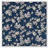 Navy Cherry Blossom Japanese Handkerchief