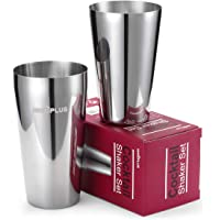 Cocktail Shakers, Boston Shaker, Cocktail Making Set, 750ml/550ml Martini Bartender Accessories Party Christmas Gifts, Made from 18/8 Grade Stainless Steel, Bartender Set Bar Cocktail Shaker Kit
