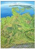 Panoramakarte Deutschland: Poster beleistet