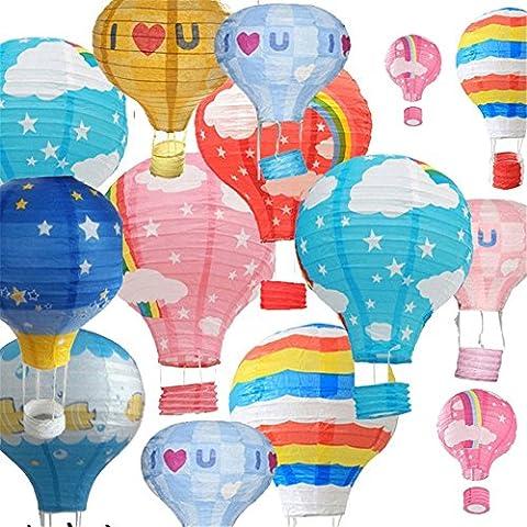 Partys Dekorationen- 5 Stücke Party Ballons Sortierte Farben Heißluftballon Lampions,
