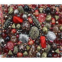 Tribal Red Jewellery Making Starter Beads Mix Set