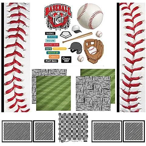 Scrapbook Customs Themed Paper Scrapbook Kit, Baseball Sport Paper