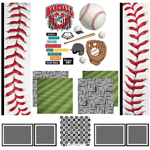 Scrapbook Customs Scrapbook-Set, Baseball-Sport-Papier -