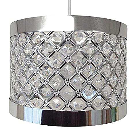 Modern Ceiling Light Easy Fit Moda Sparkly Ceiling Pendant Light Shade Fitting Decoration
